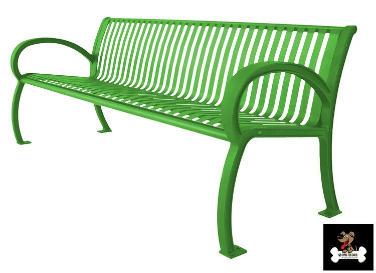 ARCHITECTURAL BENCH WITH SLAT BACK