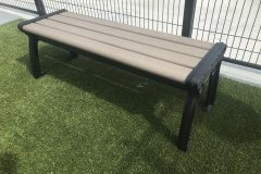 NATURAL PARK BENCH BACKLESS SEAT